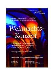 Programm - Konzertchor Vocale