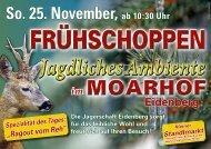 So. 25. November, ab 10:30 Uhr - eidenberg.info