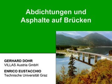 Abdichtungen und Asphalte auf Brücken - Gestrata