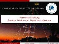 Kosmische Strahlung Geladene Teilchen und Physik der Luftschauer