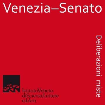 Senato. Deliberazioni miste - Istituto Veneto di Scienze, Lettere ed Arti