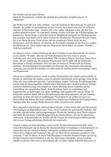 Der Wettbewerb der eitlen Fürsten - Bernd Rohwer