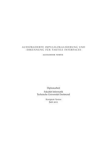 Audiobasierte Impulslokalisierung und -erkennung ... - Gernot A. Fink