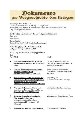 Auswaertiges Amt – Weissbuch Nr. 2 – Dokumente zur Vorgeschichte