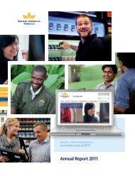 Annual Report 2011 in PDF - British American Tobacco
