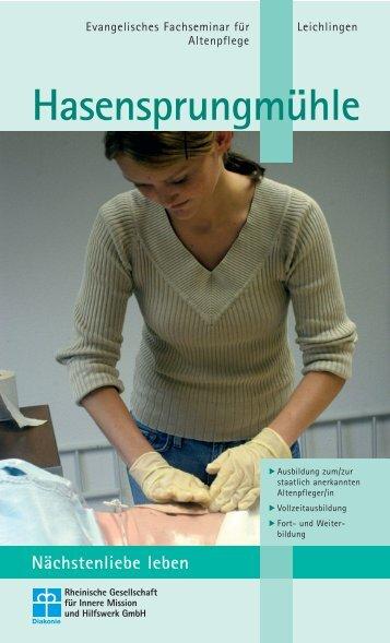2. Ausbildung - Altenpflege & Broschuere Fachseminar