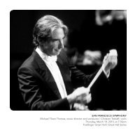 SAN FRANCISCO SYMPHONY Michael Tilson Thomas, music ...