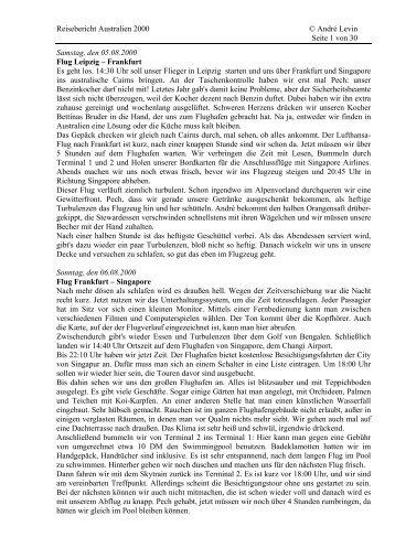 Download 1. Reise (Cairns, Darwin, Westaustralien) - PDF - levin