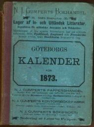 Göteborgs adress och industrikalender 1873 - Register