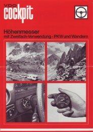 Cockpit Höhenmesser - W123-Stammtisch Hannover