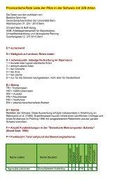Provisorische Rote Liste der Pilze in der Schweiz mit ... - pilze-basel