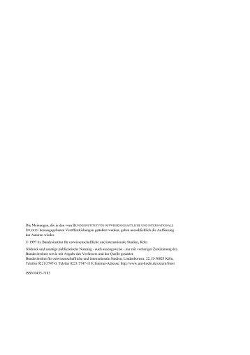 STUDIEN herausgegebenen Veröffentlichungen geäußert ... - SSOAR