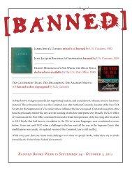Banned Books Week is September 24 - October 1, 2011