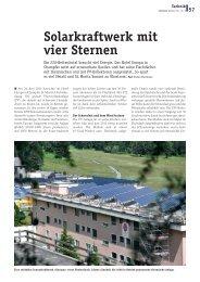 Solarkraftwerk mit vier Sternen - Presseladen