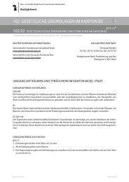 102.02 Gesetzesauszüge über Bäume und Sträucher im Kanton BS