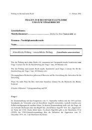 Fragen zur Rechtsquellenlehre und zum Völkerrecht - Weblaw