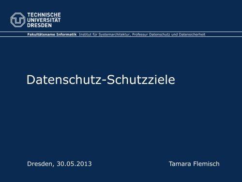 Datenschutz-Schutzziele