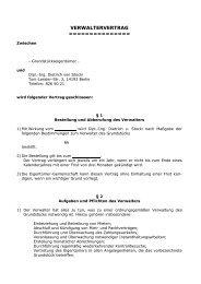 Verwaltervertrag für Mietwohngrundstücke - Dietrich von Stocki