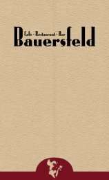 Restaurantkarte - Bauersfeld
