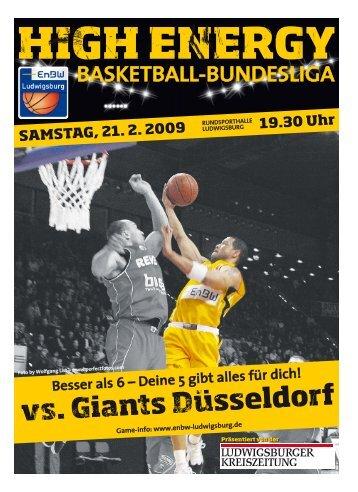 vs. Giants Düsseldorf - Neckar RIESEN Ludwigsburg