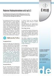 Modernes Medienunternehmen setzt auf d.3 - d.velop international