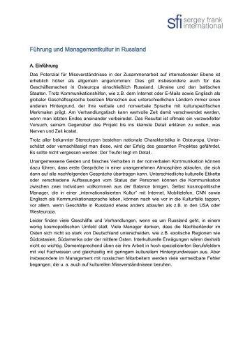 Führung und Managementkultur in Russland - IHK ...