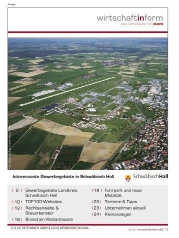 Gewerbegebiete Landkreis Schwäbisch Hall I wirtschaftinform.de 03.2012