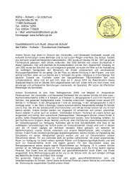 Qualitätsbericht zum Audit Gesunde Schule - Kollwitz Grundschule ...