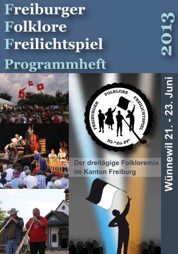 Das Programmheft - Freiburger Folklore Freilichtspiel