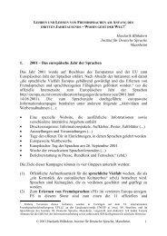 Lehren und Lernen von Fremdsprachen am Anfang des dritten ...