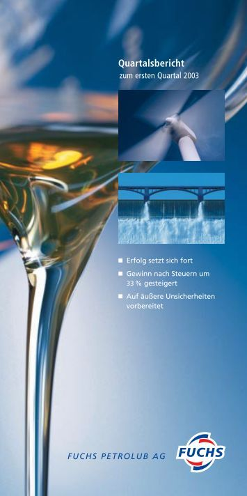 1. Quartal - Fuchs Petrolub AG