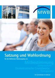 Mitbestimmung - Mülheimer Wohnungsbau eG