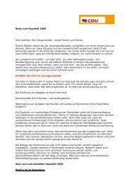 20.12.2004 - CDU Gemeindeverband Lippetal
