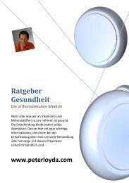 Ratgeber Gesundheit - Peterloyda.com