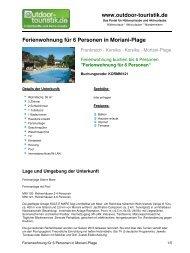 Ferienwohnung für 6 Personen in Moriani-Plage - Outdoor-Touristik