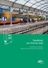 Geschäftsbericht 2008 - AVG