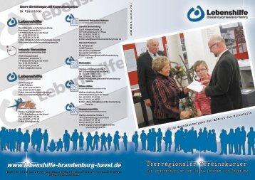 Überregionaler Vereinskurier - Lebenshilfe für Menschen mit ...
