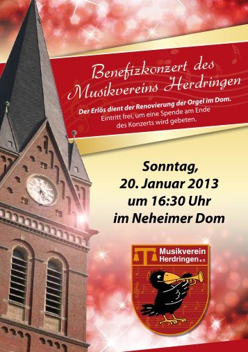 Benefizkonzert 2013 - Musikverein-herdringen.de