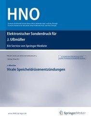 Elektronischer Sonderdruck für Virale Speicheldrüsenentzündungen ...