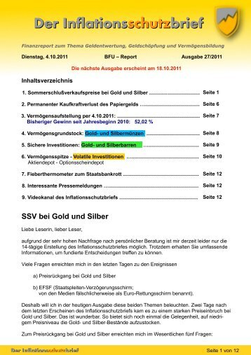 Vollständigen Brief als PDF herunterladen. - Gold- und Silber ...