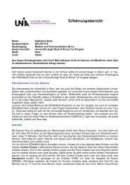 Erfahrungsbericht - Akademisches Auslandsamt - Universität ...