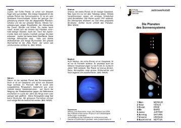 Das Planetensystem - Jura-Sternwarte Grenchen