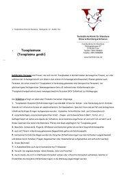Info Toxoplasmose - in der Tierärztliche Klinik für Kleintiere - Trier