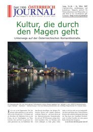 Kultur, die durch den Magen geht - Österreich Journal