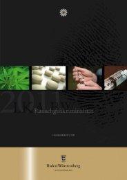 Rauschgiftkriminalität 2011 - Landeskriminalamt Baden-Württemberg