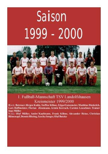 Saison 1999/2000 - TSV Landolfshausen