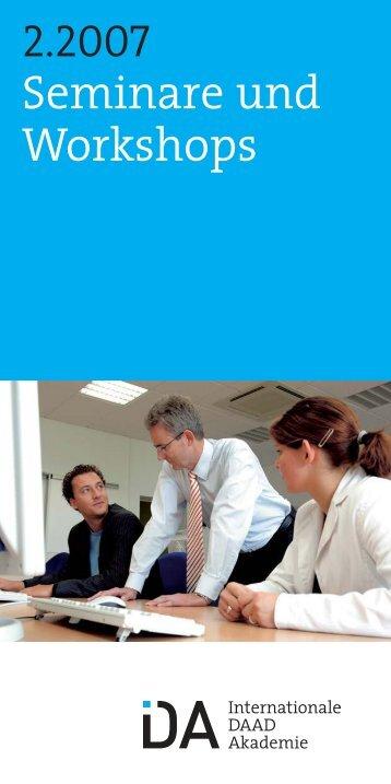 Broschüre 2. Halbjahr 2007 - Internationale DAAD-Akademie (IDA)