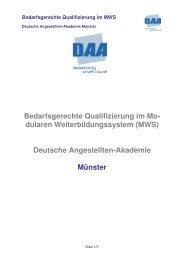 Anwendersoftware Lexware und Datev Qualifizierung im MWS - DAA