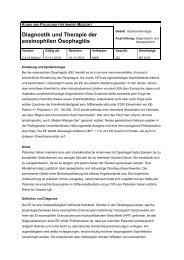 Diagnostik und Therapie der eosinophilen Ösophagitis