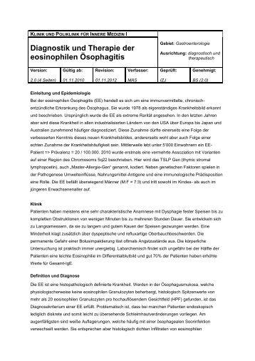 diagnostik und therapie der borderline eosinophiles magazine 580 | diagnostik und therapie der eosinophilen osophagitis